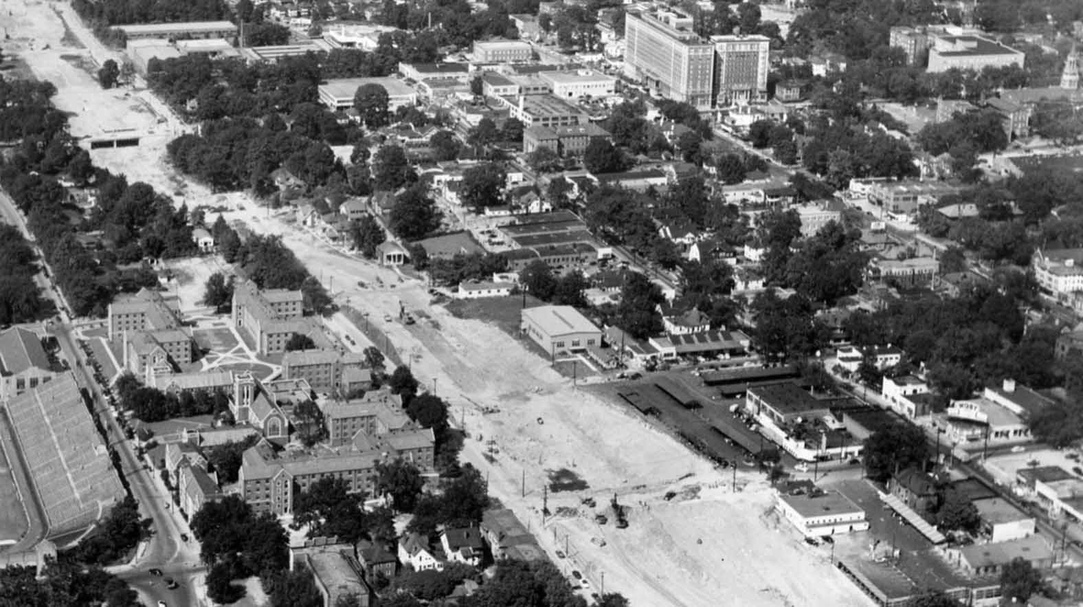 Connector Construction in Midtown, 1950s